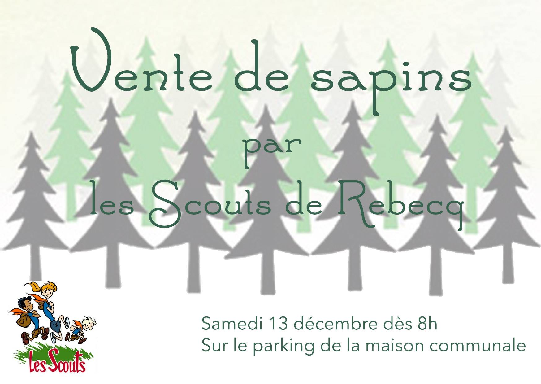 vente de sapins de no l journal d 39 informations des scouts de rebecq. Black Bedroom Furniture Sets. Home Design Ideas