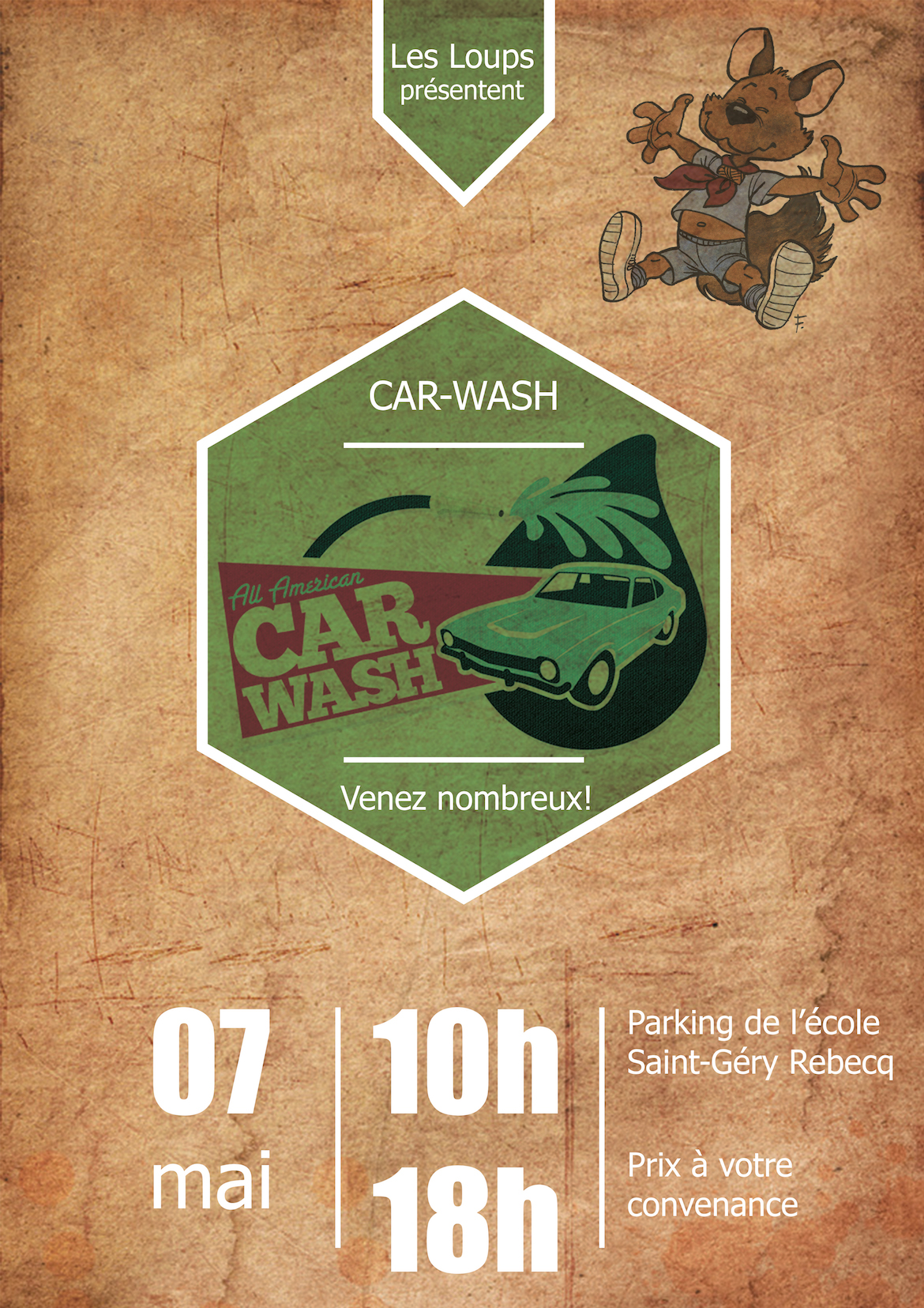 Affiche Carwash Loup